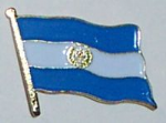 El Salvador Country Flag Enamel Pin Badge